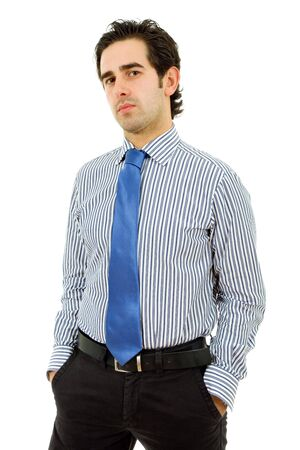 young business man portrait in white background Stock Photo - 6820876