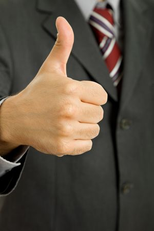 hand going thumb up, business man detail Stock Photo - 7028086