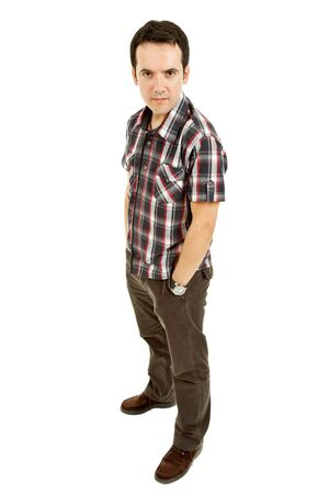 young casual man full body in a white background Stock Photo - 7285517