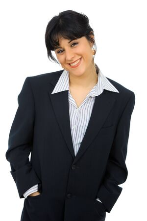 young beautiful happy business woman portrait with a big smile Stock Photo - 7812377