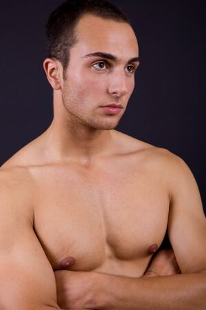 an young sensual man close up portrait Stock Photo - 7835244