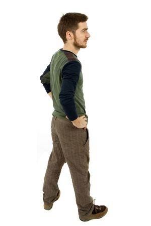 young casual man full body in a white background Stock Photo - 7986457