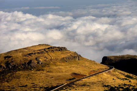 Mountains of Madeira island above the clouds at Pico do Areeiro and Ruivo Stock Photo - 8035791