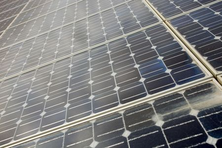 detail of photoelectric cells of a solar panel  photo