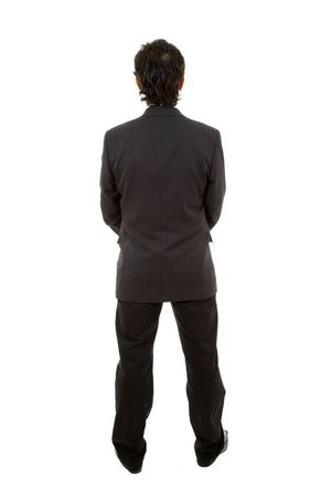 young business man full body from back