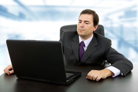 young business man working with is laptop Stock Photo - 8247768
