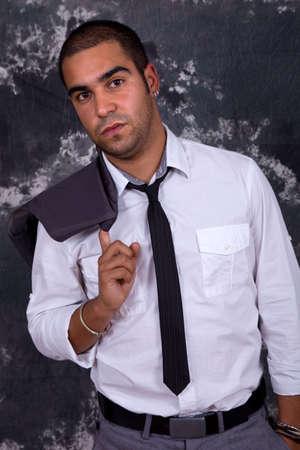an young happy businessman, close up portrait Stock Photo - 8248301