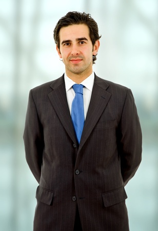 an young happy business man close up portrait Stock Photo - 8335210