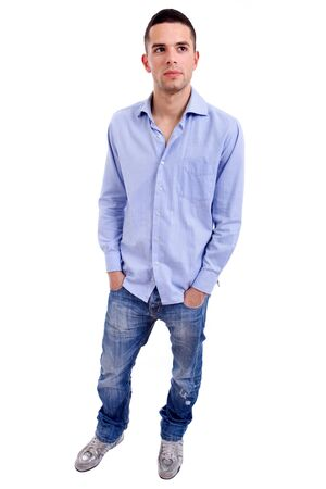 young casual man full body in a white background Stock Photo - 8375576