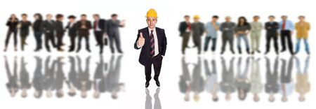 mature business man with some people in the back Stock Photo - 8450316