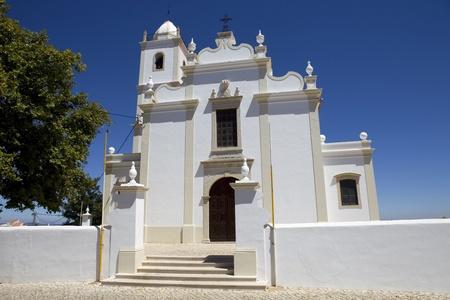 porches: typical portuguese church in Porches, Algarve, Portugal Stock Photo