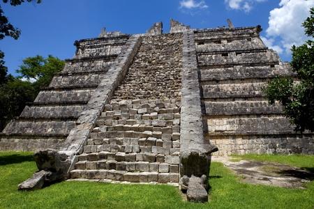 Ancient Mayan temple at Chichen Itza, Yucatan, Mexico photo