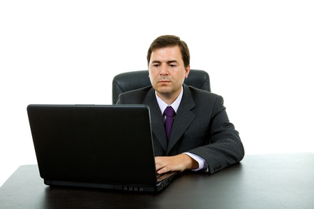 young business man working with is laptop Stock Photo - 8665687