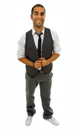 young business man full body isolated on white background Stock Photo - 8718925