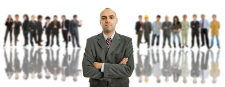 business man in front of a group of people Stock Photo - 8851463