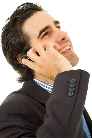 young business man on the phone, isolated Stock Photo - 8851491