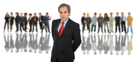 business man in front of a group of people Stock Photo - 8851714