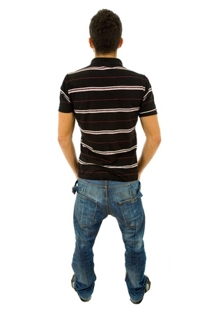 young casual man full body in a white background Stock Photo - 8851736