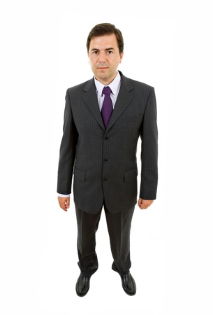 young business man full body isolated on white background Stock Photo - 8851734