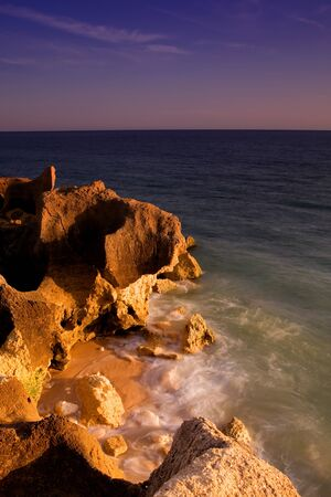slow shutterspeed picture at the south coast of portugal photo
