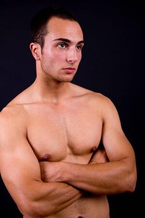 an young sensual man close up portrait Stock Photo - 8941314