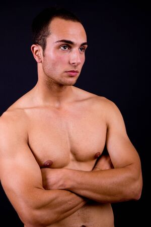 an young sensual man close up portrait Stock Photo - 8941314