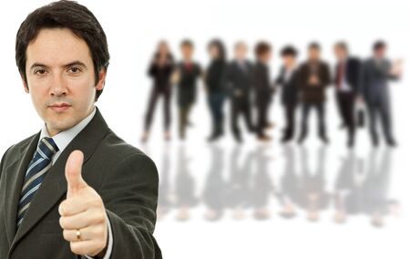 business man with some people in the back Stock Photo - 9104570