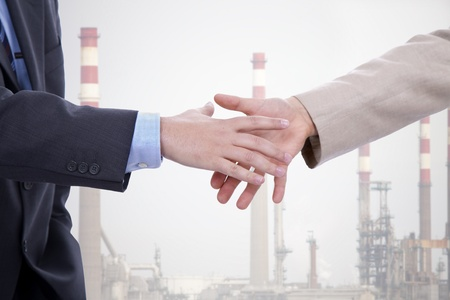 Business men hand shake at the office Stock Photo - 9106154