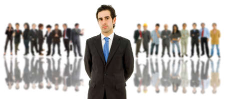 business man in front of a group of people Stock Photo - 9250702