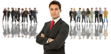 business man with some people in the back Stock Photo - 9331639