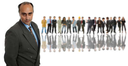 business man in front of a group of people Stock Photo - 9375951