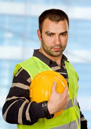 proud boss and worker standing looking at the camera Stock Photo - 9412518