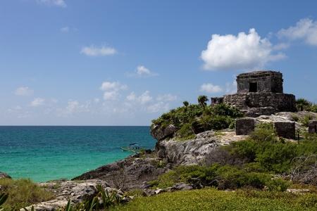 Ancient Maya city ruins of Tulum, Yucatan, Mexico