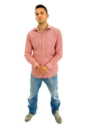 young casual man full body in a white background Stock Photo - 9620917