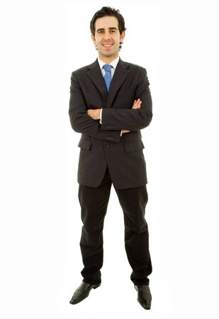 young business man full body isolated on white background Stock Photo - 9641319