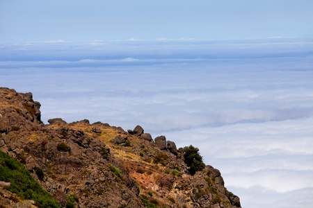 Mountains of Madeira island above the clouds at Pico do Areeiro and Ruivo Stock Photo - 9684951