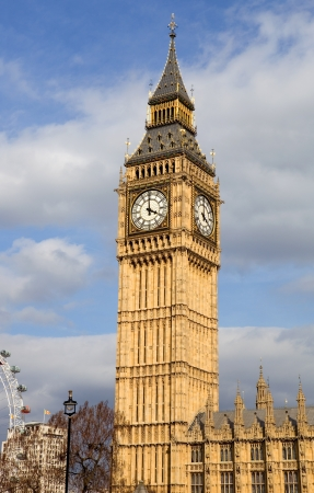 london, big ben clock at the westminster city Stock Photo