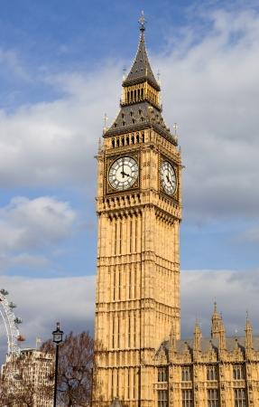 london, big ben clock at the westminster city Standard-Bild