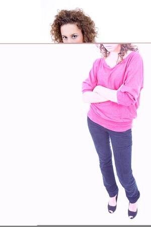 young beautiful woman full body, isolated on white Stock Photo - 10094385
