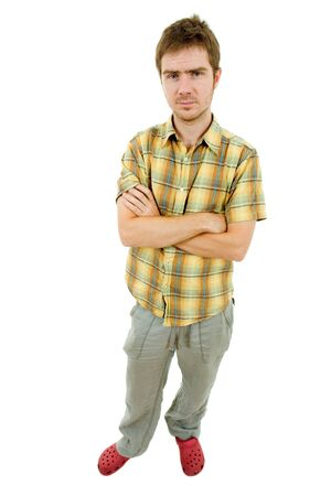 young casual man full body in a white background Stock Photo - 10094790