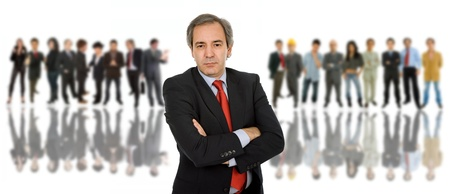 business man in front of a group of people Stock Photo - 10387614