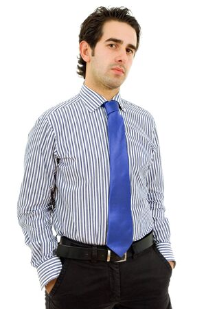 young business man portrait in white background photo
