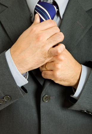 detail of a Business man Suit with colored tie Stock Photo - 10418957
