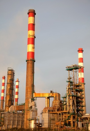 portuguese industrial power plant at sunset light Stock Photo - 10419215