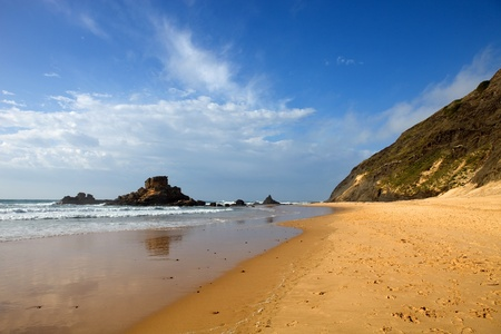 beautiful beach at algarve, the south of portugal photo