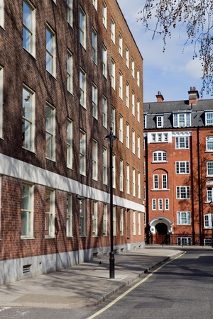 housing style: typical beautiful london houses in England Stock Photo