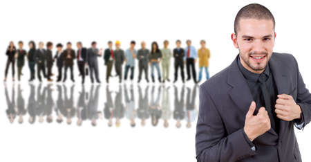 business man in front of a group of people Stock Photo - 10561262
