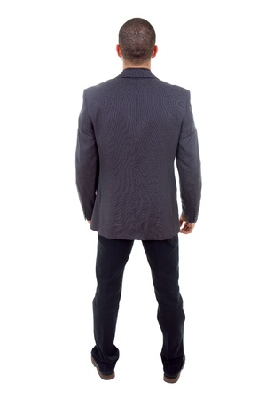young business man full body from back photo