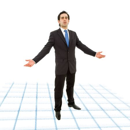 young business man full body isolated on white background Stock Photo - 11058115