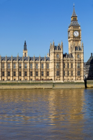 thames: London view, Big Ben, Parliament and river Thames Stock Photo
